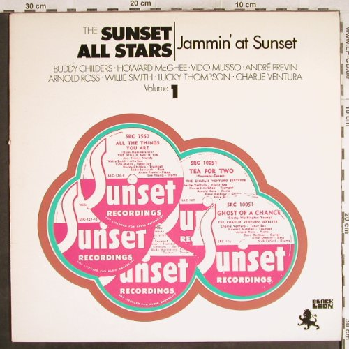 V.A.Sunset All Stars: Jammin' at Sunset,Vol.1, vg+/m-, Black Lion(BLP 30112), NL, 1971 - LP - H7261 - 4,00 Euro