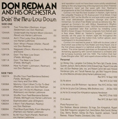 Redman,Don: Doin' the New Low Down, hep Rec.(hep 1004), UK, 1984 - LP - H7273 - 7,50 Euro