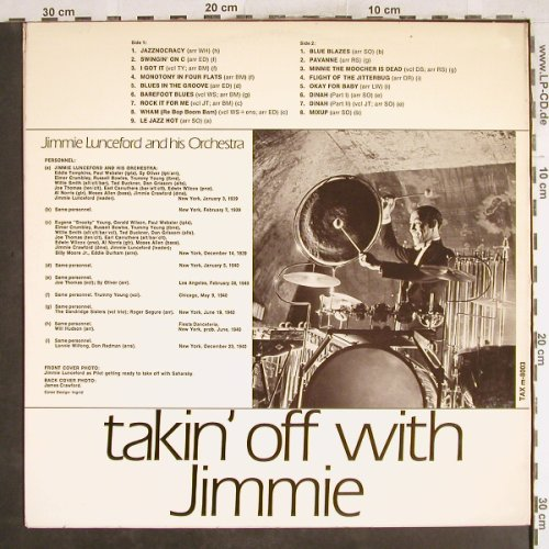 Lunceford,Jimmie: Takin' off with Jimmie, vg+/m-, Tax(m-8003), S,  - LP - H7470 - 6,00 Euro