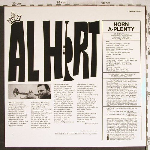 Hirt,Al: Horn A-Plenty, Orch.Billy May, RCA(LPM/LSP-2446), D, 1994 - LP - H7722 - 9,00 Euro