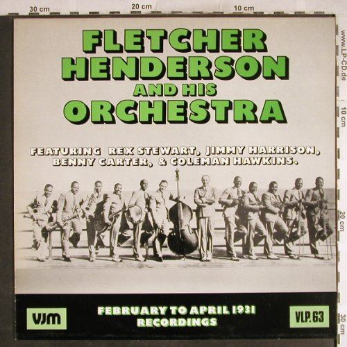 Henderson,Fletcher  and h.Orch.: February to April 1931 recordings, VJM(VLP 63), UK, 1987 - LP - H7752 - 7,50 Euro