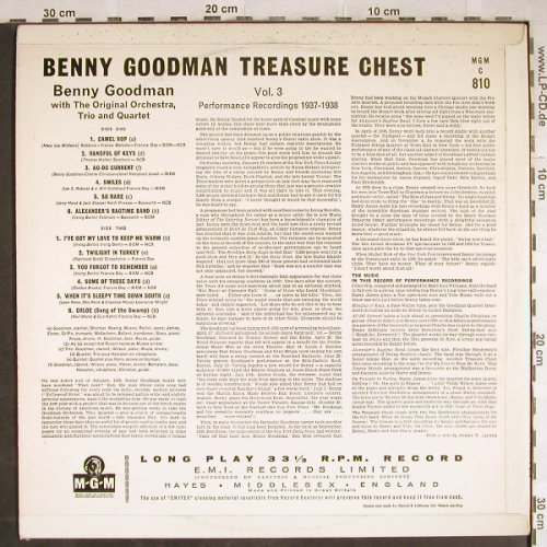 Goodman,Benny: Performance Recordings 1937-1938, MGM(MGM C 810), UK,Vol.3/3,  - LP - H7896 - 20,00 Euro