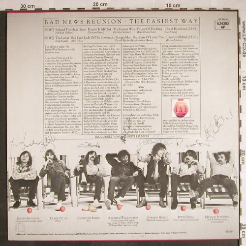Bad News Reunion: The Easiest Way, 7 x Autogramm, Line(6.24383 AP), D, 1980 - LP - H8099 - 12,50 Euro
