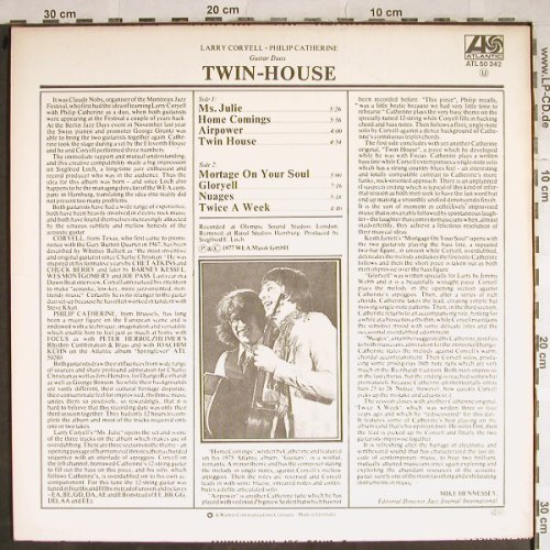 Coryell,Larry - Philip Catherine: Twin-House, Atlantic(ATL 50 342), D, 1977 - LP - H8425 - 5,50 Euro
