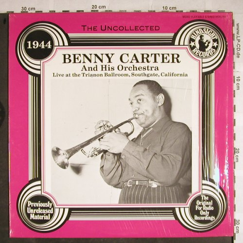 Carter,Benny: Live at t.Trianon Ballroom, Hindsight Records(HSR-218), US, 1985 - LP - H8464 - 7,50 Euro