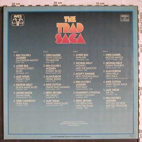 V.A.The Trad Saga: Ken Colyer's,AckerBilk,Alex Welsh.., Aves(89.002-2), D, Foc, 1977 - 2LP - H8555 - 7,50 Euro