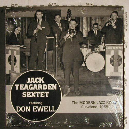 Teagarden,Jack with His Sextet: The Modern Jazz Room,Cleveland'58, Pumpkin Prod.(121), US,FS-New, 1988 - LP - H8858 - 10,00 Euro