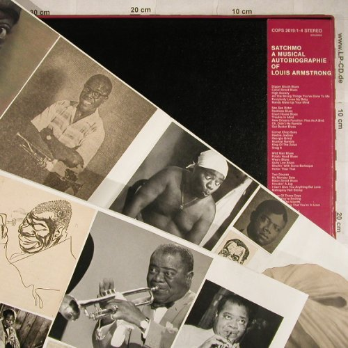 Armstrong,Louis: Satchmo-A Musical Autobiography,Box, Coral(COPS 2619/1-4), D+Collage,  - 4LP - H9193 - 14,00 Euro