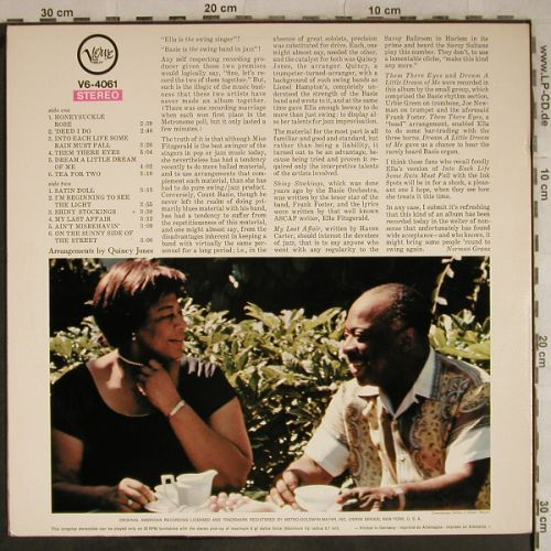 Fitzgerald,Ella & Count Basie: On The Sunny Side Of The Street, Verve(V6-4061), D,  - LP - H9531 - 20,00 Euro