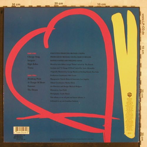 Sanborn,David: A Change Of Heart, WB(925 479-1), D, 1987 - LP - H9691 - 5,00 Euro