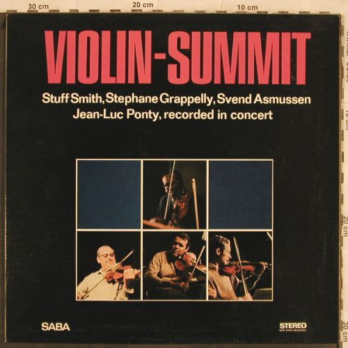 Smith,Stuff/Grappelly/Asmussen/Pont: Violin-Summit, Foc, Saba(SB 15 099), D, 1967 - LP - H9928 - 20,00 Euro