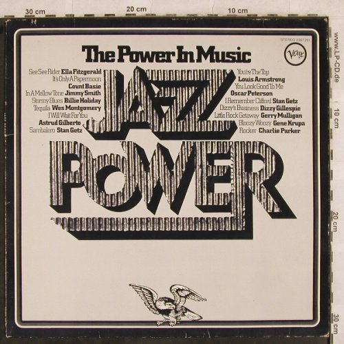 V.A.Jazz Power- The Power in Music: Ella Fitzgerald...Charlie Parker, Verve(2367 201), D, m-/vg+,  - LP - H9985 - 5,00 Euro
