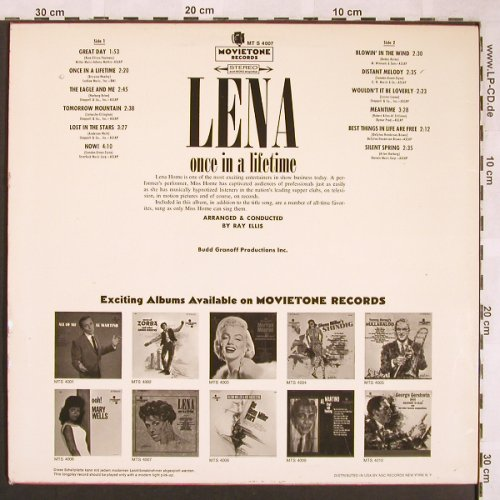 Horne,Lena: Once In A Lifetime, Movieton(MT S 4007), D,  - LP - X1679 - 12,50 Euro