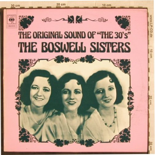 Boswell Sisters: The Original Sound of the 30's'', CBS(CBS 80 074), NL,m-/vg+, 1974 - LP - X271 - 6,00 Euro