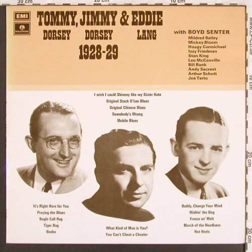 Dorsey,Tommy & Jimmy,Eddie Lang: Tommy,Jimmy and Eddie,1928-29, Parlophone(PMC 7133), UK,  - LP - X3243 - 9,00 Euro