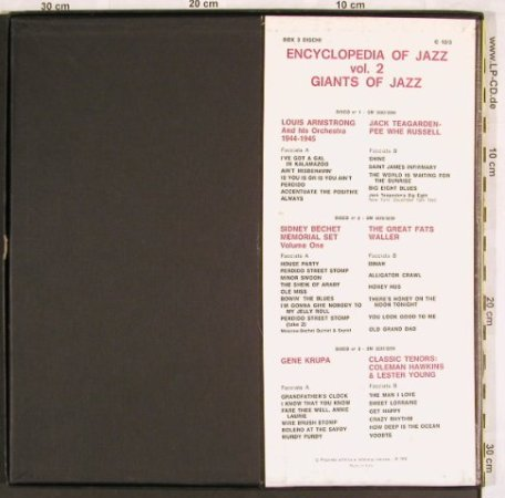 V.A.Encyclopedia Of Jazz: Vol.2-Giants of Jazz, Joker/Dischi(C 12/3), I, BoxSet, 1970 - 3LP - X3244 - 9,00 Euro