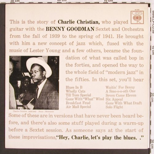 Christian,Charlie: with the Benny Goodman Sextet&Orch., CBS(62 387), F,  - LP - X3254 - 7,50 Euro
