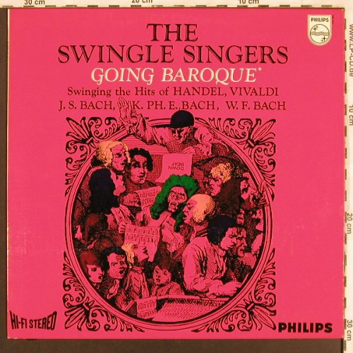 Swingle Singers: Going Baroque, Philips(840 555 BY), NL,  - LP - X3256 - 9,00 Euro