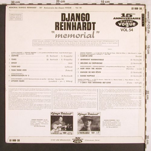 Reinhardt,Django: Memorial, Vogue, Vol.54(LD 668-30), F,  - LP - X3262 - 17,50 Euro