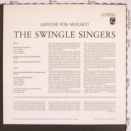 Swingle Singers: Anyone for Mozart ?, Philips(842 110), D, 1965 - LP - X3282 - 7,50 Euro