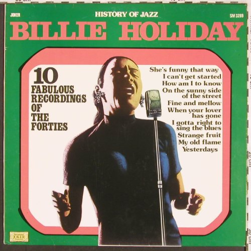Holiday,Billie: History of Jazz,10 Fabulous...,Ri, Joker(SM 3289), I,  - LP - X3498 - 5,00 Euro