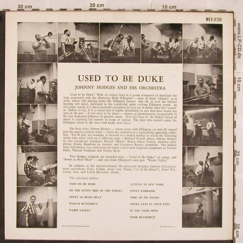 Hodges,Johnny: Used To Be Duke - Only Cover, Verve(MGV-8150), US,  - Cover - X385 - 4,00 Euro