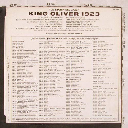 King Oliver's Creole Jazz Band: History Of Jazz, Creole Jazz Band, Joker(SM 3089/E), I, 1971 - LP - X404 - 5,50 Euro
