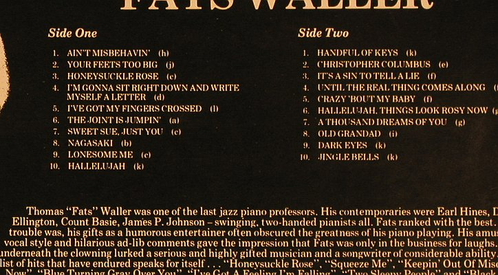 Waller,Fats: 20 Golden Pieces of, Astan(LP 20007), DK, 1984 - LP - X4061 - 5,50 Euro