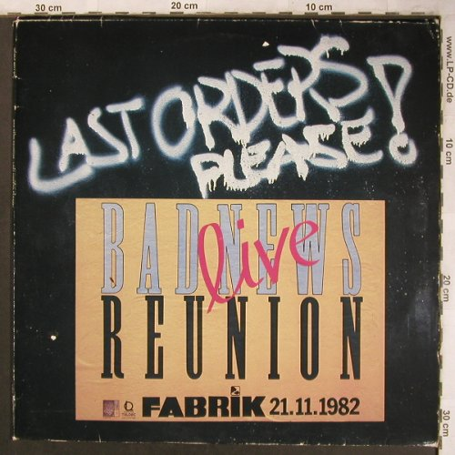 Bad News Reunion: Last Orders,please!,vg+/vg+, Line,wh.vinyl(OLDLP 8017 DY), D, Live, 1983 - 2LP - X4553 - 6,00 Euro