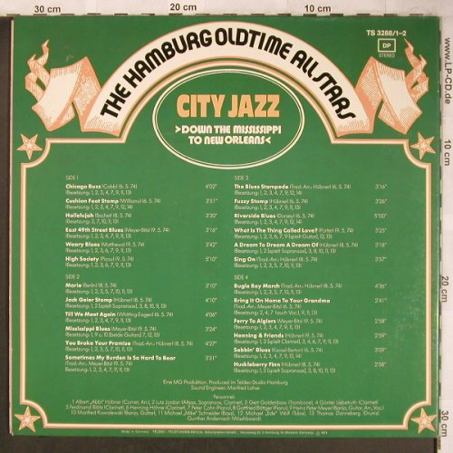 Hamburg Oldtime All Stars: City Jazz,Foc, Telefunken(TS 3288/1-2), D, 1974 - 2LP - X4782 - 7,50 Euro