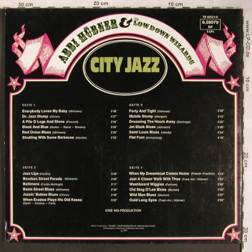 Hübner,Abbi & Lowdown Wizards: City Jazz, Foc, Telefunken(6.28079 DP), D, 1974 - 2LP - X4883 - 7,50 Euro