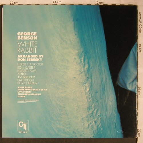 Benson,George: White Rabbit,Foc, CTI(6015), D, 1972 - LP - X5569 - 12,50 Euro