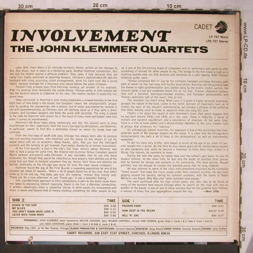 Klemmer,John - Quartets: Involvement, m-/vg+, Cadet/Chess(CA 797), US,Co, 1967 - LP - X5598 - 15,00 Euro