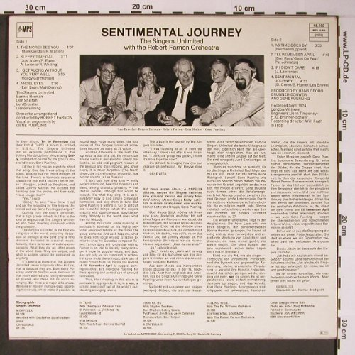 Singers Unlimited/Robert FarnonOrch: Sentimental Journey, MPS(68.102), D, Ri, 1976 - LP - X5923 - 12,50 Euro