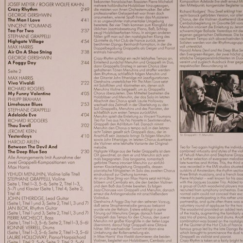 Menuhin,Yehudi & Stephane Grappelli: Tea For Two, EMI(063-02 997 Q), D, 1978 - LPQ - X5960 - 7,50 Euro