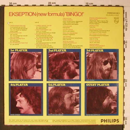 Ekseption: Bingo, co, Philips(6423 074), D, 1974 - LP - X6168 - 7,50 Euro