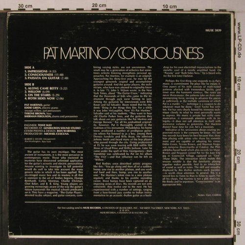 Martino,Pat: Consciousness, m-/vg+, Muse Records(MUSE 5039), US, 1974 - LP - X6246 - 20,00 Euro