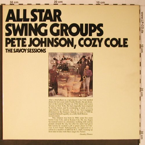 V.A.Allstar Swing Groups: Pete Jahnson, Cozy Cole, Foc, Savoy,vg+/m-(WL70533(2)), D,Ri, 1985 - 2LP - X6455 - 12,50 Euro