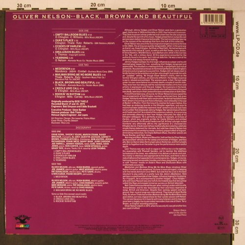 Nelson,Oliver: Black,Brown And Beautiful, Bluebird/RCA(NL86993), D, 1989 - LP - X6487 - 14,00 Euro