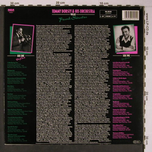 Dorsey,Tommy & His Orchestra: vocal Frank Sinatra,sings Standards, RCA(NL 89102), D, 1981 - LP - X6582 - 7,50 Euro