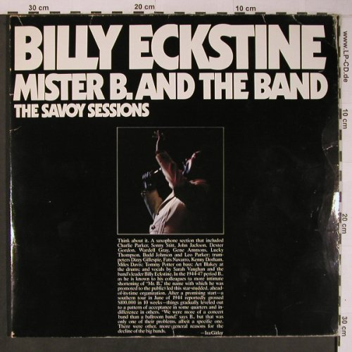 Eckstine,Billy: Mister B.And The Band,Foc,vg+/VG+, Savoy(WL70522(2)), D,Ri, 1985 - 2LP - X6628 - 7,50 Euro