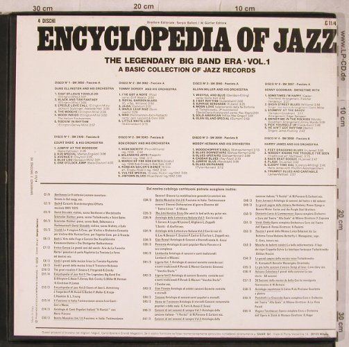 V.A.Encyclopedia Of Jazz: Vol.1-Legendary Big Band Era, Joker/Dischi(C 11/4), I, BoxSet, 1970 - 4LP - X753 - 9,00 Euro
