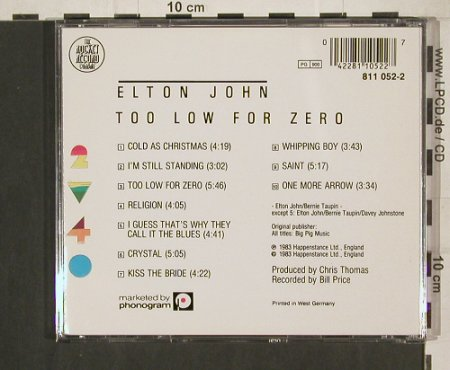 John,Elton: Too Low For Zero, Rocket(811 052-2), D, 1983 - CD - 80210 - 10,00 Euro