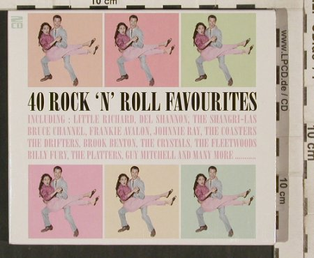 V.A.40 Rock'n'Roll Favourites: Guy Mitchel...Bobby Helms,40 Tr., Performance/DeltaMusic(38139), UK, 2005 - 2CD - 80266 - 10,00 Euro