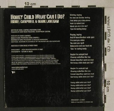 Campbell,Isobel  & Mark Lanegan: Honey Child what can I do?, V 2,1Tr.Promo,Digi(WR5039493P), , 2006 - CD5inch - 80539 - 2,50 Euro