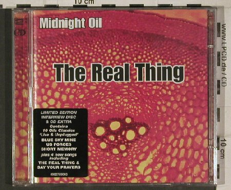 "Midnight Oil: The Real Thing, Lim.Ed.+CD5"", Columbia(498278.9), D, 2000 - 2CD - 81048 - 10,00 Euro"