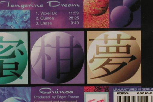 Tangerine Dream: Quinoa, TDI(010), , 1997 - CD - 81095 - 10,00 Euro
