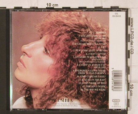 Streisand,Barbra: Memories, 14 Tr., Columbia(85418), A, 1981 - CD - 81985 - 6,00 Euro