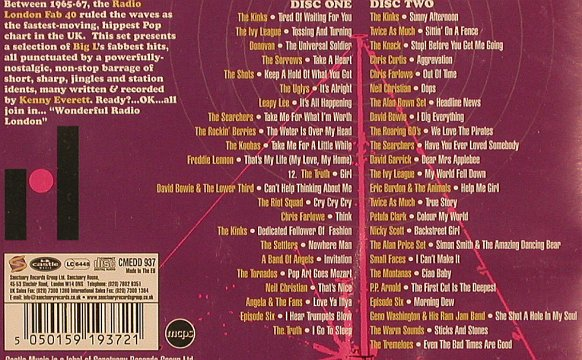 V.A.We Love The Pirates: Charting The Big 'L' Fab 40, FS-New, Castle(CMEDD 937), EU, 2005 - 2CD - 82025 - 15,00 Euro