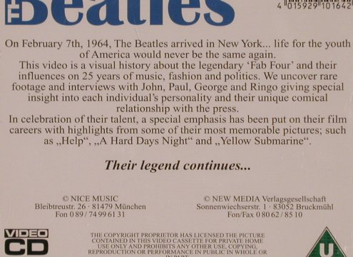 Beatles: The Legend Continues - Video CD, NIce Music(164), D, 45 min,  - CDV - 82033 - 10,00 Euro
